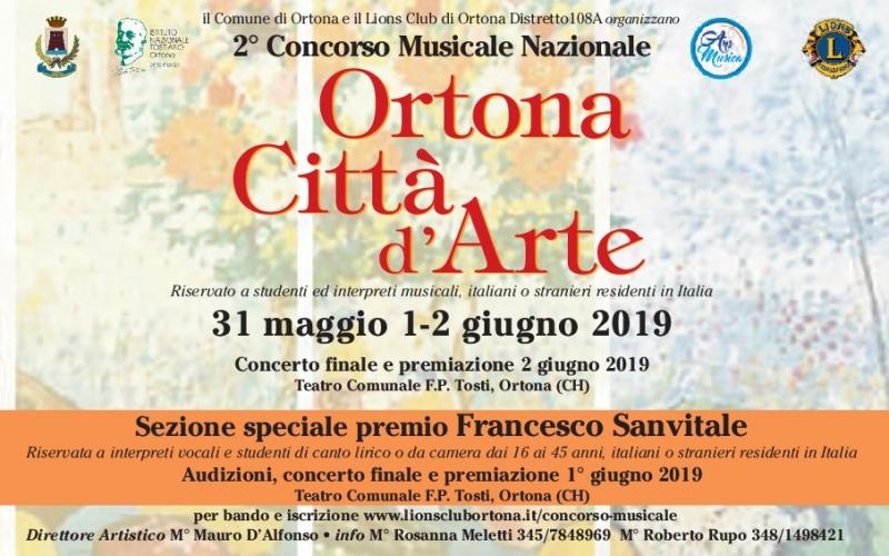 2° CONCORSO MUSICALE NAZIONALE ORTONA CITTA' D'ARTE