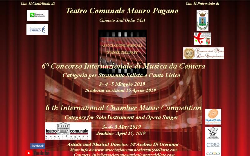 6° Concorso Internazionale di Musica da Camera- categoria per strumento solista e canto lirico