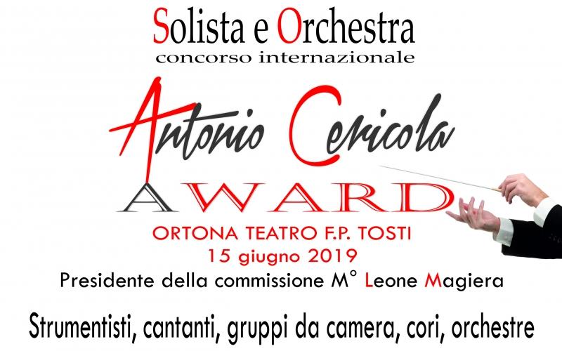 Antonio Cericola Award - Solista e Orchestra