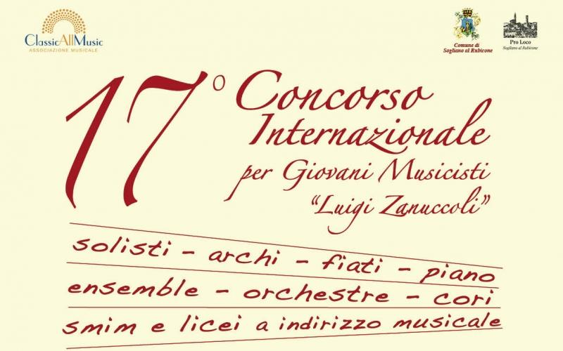 """17° Concorso Internazionale per Giovani Musicisti """"Luigi Zanuccoli"""""""