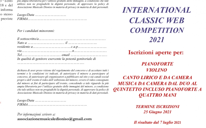 International Classic web Competition