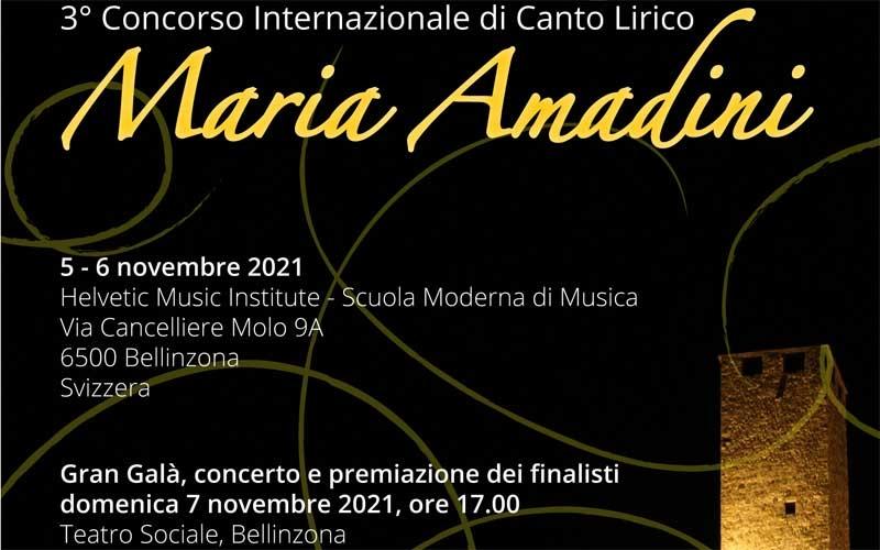 3° Concorso Internazionale di Canto Lirico Maria Amadini