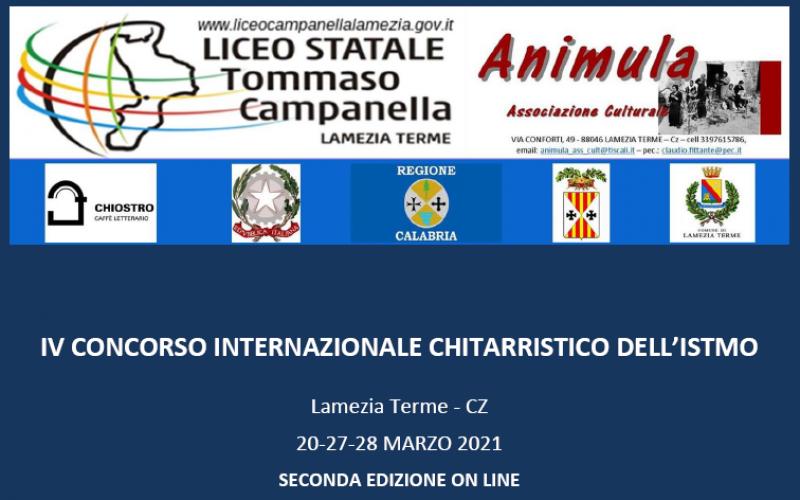 IV CONCORSO INTERNAZIONALE CHITARRISTICO DELL'ISTMO ED 2021