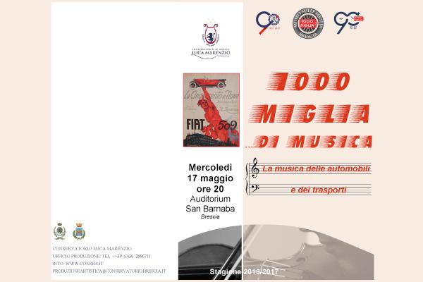 Mercoledì 17 maggio alle ore 20 – Auditorium San Barnaba, Corso Magenta 44 - Brescia