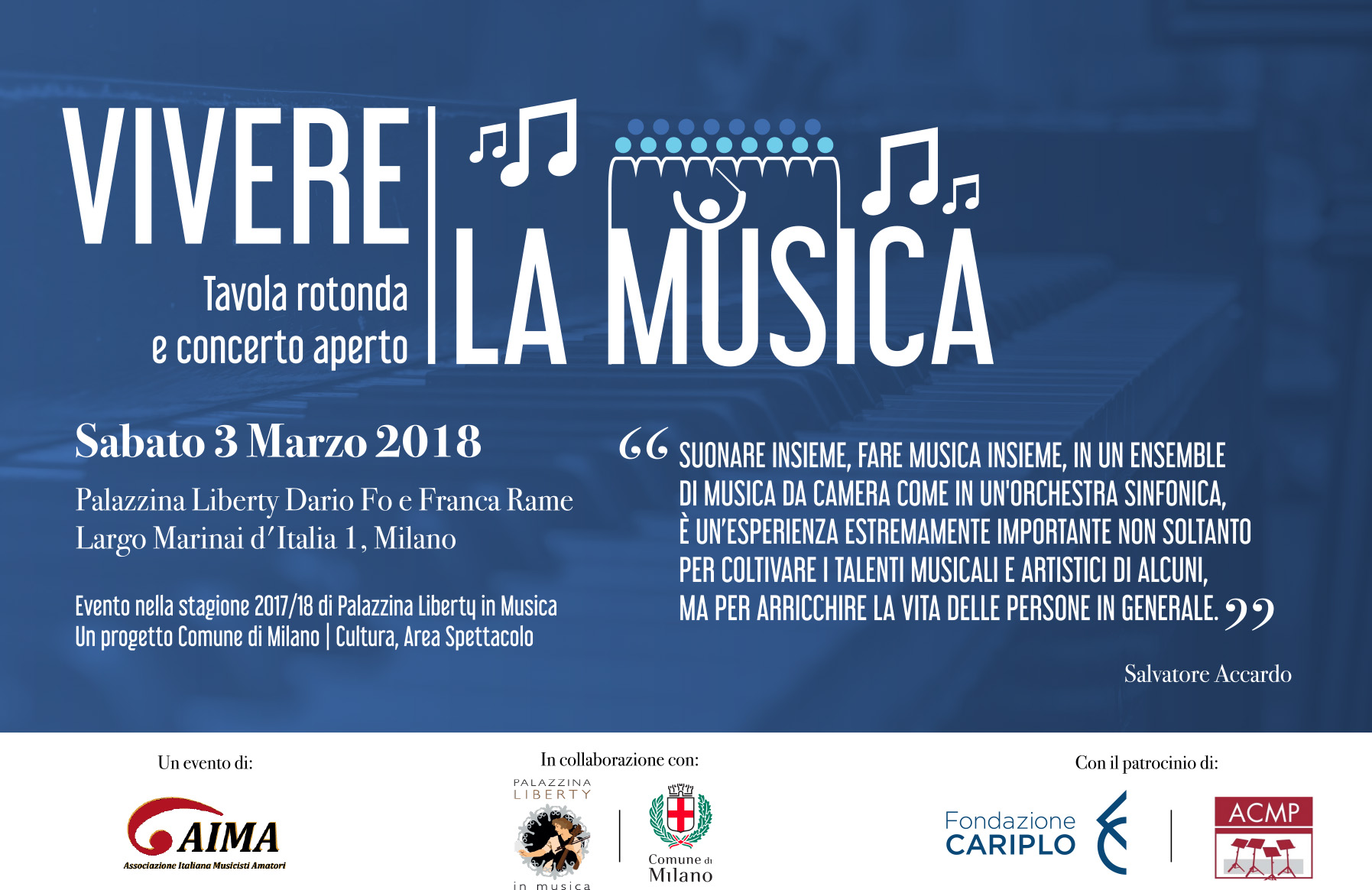 In collaborazione con l'Assessorato alla Cultura del Comune di Milano