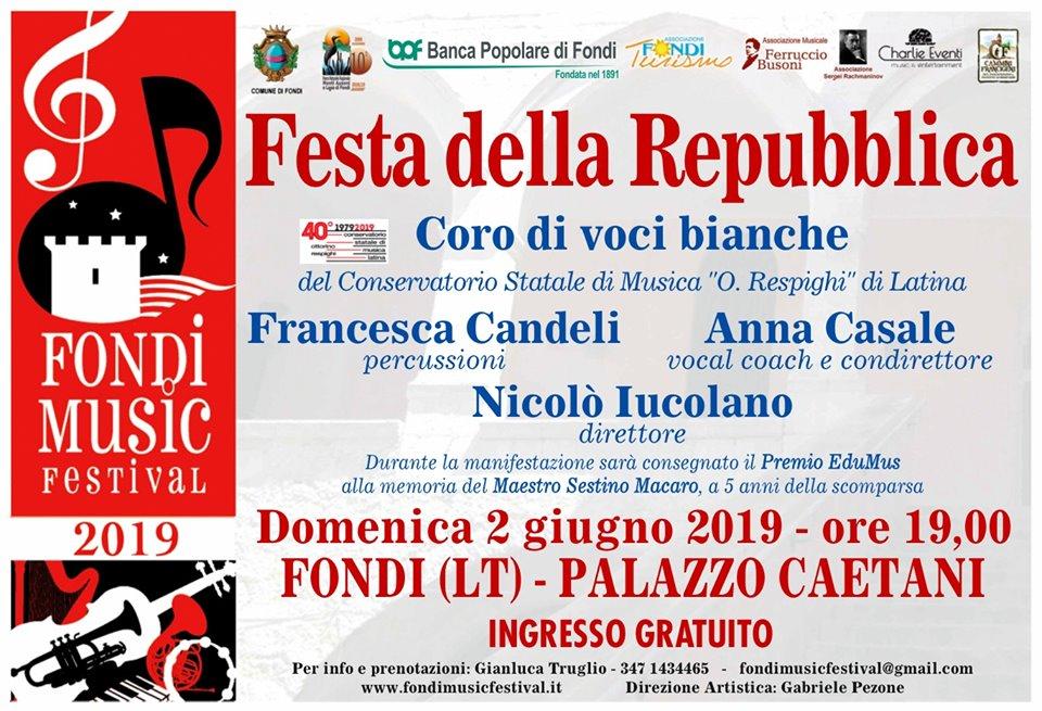 Domenica 2 Giugno, appuntamento a Palazzo Caetani, Fondi (LT)