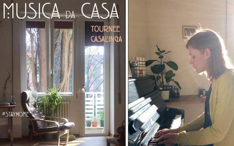 Fino al 13 aprile, l'artista si esibirà ogni 3 giorni in un luogo diverso di casa sua (su Facebook e Instagram)